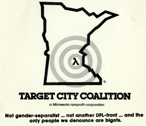 Target City Coalition logo from the Jean-Nickolaus Tretter Collection and OutHistory,org