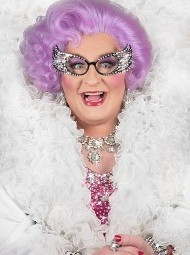 Michael Walters as Dame Edna is on Her Way